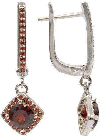 Серьги Митра Ювелир E-1199-GA-GCZ серьги серебро с цитрином и фианитами присцилла