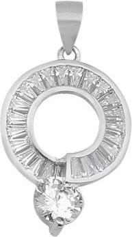 Кулоны, подвески, медальоны Национальное Достояние 22P122197-nd cai серебряный кулон с цепочкой с цирконами c1224n 90 03zir
