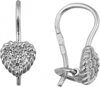 Серебряные серьги Национальное Достояние 52915590R-nd с фианитами