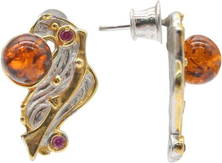 Серьги Национальное Достояние 821952-nd серьги из серебра с янтарем 2200 10р