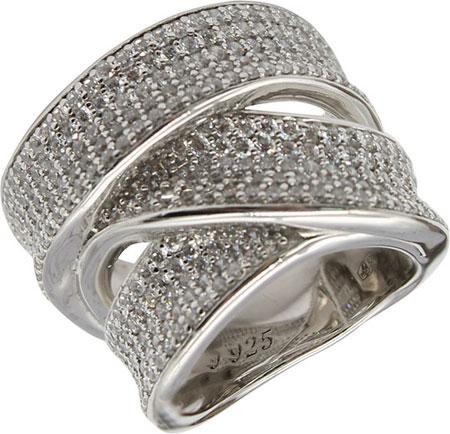 Кольца Национальное Достояние DM1093R-nd кольцо с 81 фианитами из серебра 925 пробы
