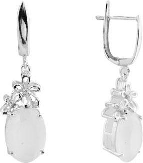 Серьги Национальное Достояние E6448-1-nd серьги с подвесками jv серебряные серьги с ювелирным стеклом se0422 us 001 wg