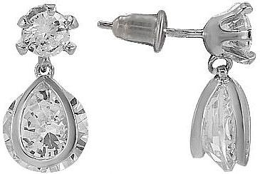 Серьги Национальное Достояние Ec00313r-nd esprit серебряные серьги с цирконами esco 90725 a
