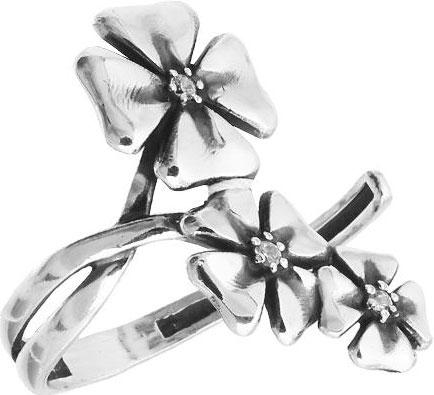 Кольца Национальное Достояние K11316-nd кольцо с 81 фианитами из серебра 925 пробы