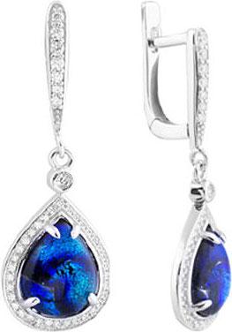Серьги Национальное Достояние SE000994C-8-1-nd серьги с подвесками jv серебряные серьги с ювелирным стеклом se0422 us 001 wg