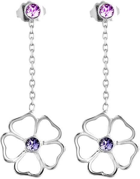 Серьги Nina Ricci NR-70184201105000 серьги с подвесками jv серебряные серьги с ювелирным стеклом se0422 us 001 wg