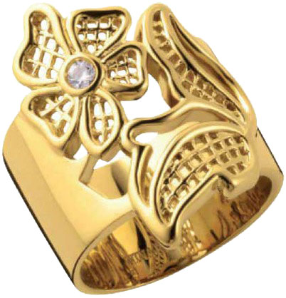 Кольца Nina Ricci NR-702030201080 nina ricci кольцо nina ricci 70121670107052 s 57 золотой