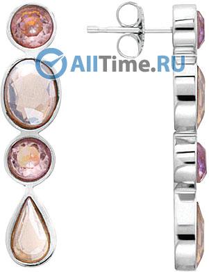 Серьги Nina Ricci NR-70207061110000 серьги с подвесками jv серебряные серьги с ювелирным стеклом и куб циркониями dm0804e us 001 wg