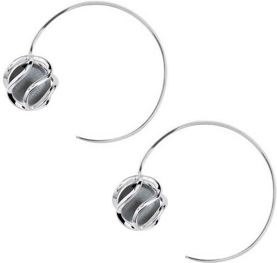 Серьги Nina Ricci NR-70236731114000 серьги с подвесками jv серебряные серьги с ювелирным стеклом se0422 us 001 wg