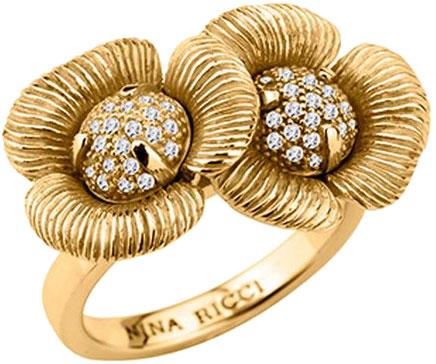 Кольца Nina Ricci NR-702406201080 nina ricci кольцо nina ricci 70121670107052 s 57 золотой