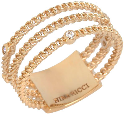 Кольца Nina Ricci NR-702465301080 nina ricci кольцо nina ricci 70121670107052 s 57 золотой