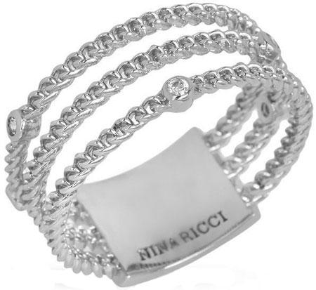 Кольца Nina Ricci NR-702465311080 женские кольца jv женское серебряное кольцо с куб циркониями f 642r 001 wg 17 5