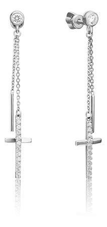 Серьги PLATINA Jewelry 02-4395-00-401-1120-42