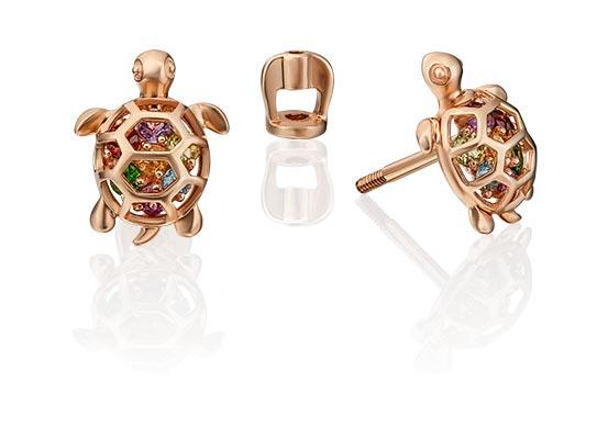 Серьги PLATINA Jewelry 02-4525-00-717-1110-57