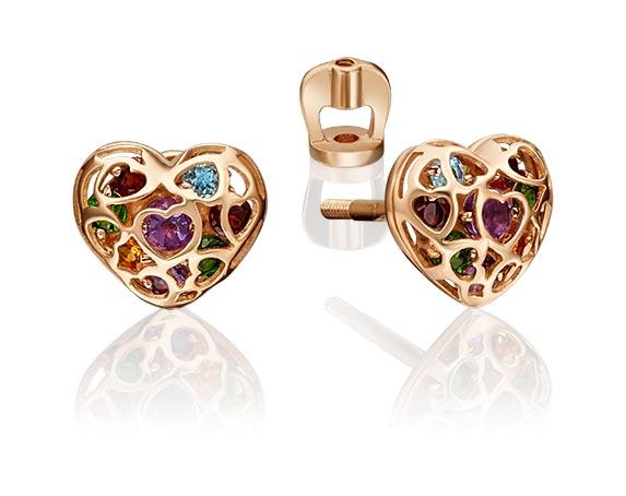 Серьги PLATINA Jewelry 02-4565-00-728-1110-57