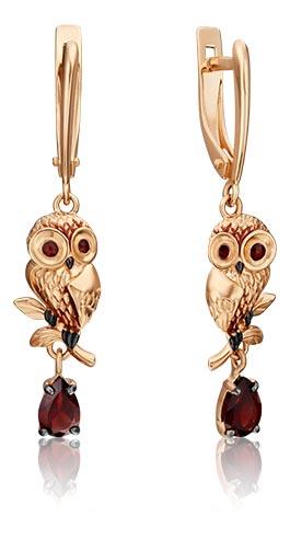 Серьги PLATINA Jewelry 02-4692-00-204-1110-57