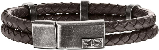 Браслеты Police PJ.25715BLC/02-S муж кожаные браслеты кожа природа панк мода браслеты белый черный коричневый назначение особые случаи подарок спорт