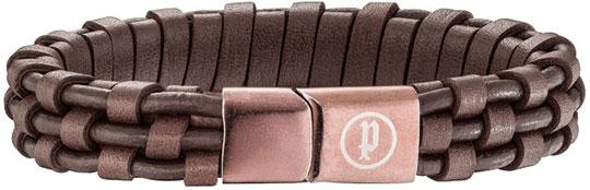 Браслеты Police PJ.26141BLC/02 муж бижутерия кожаные браслеты кожа коричневый