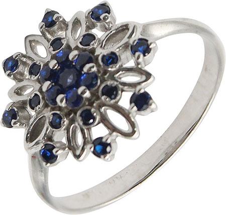 Кольца Русское Золото 55017021-05-6 кольцо с 81 фианитами из серебра 925 пробы