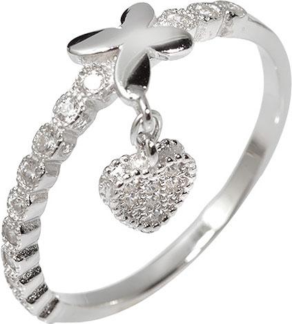 Серебряное наборное кольцо Sandara SGR355 с фианитами