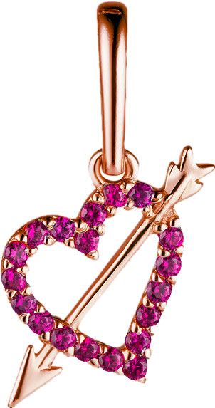 Кулоны, подвески, медальоны СБ Золото PK-26/23345 фигурка сердце со стрелой