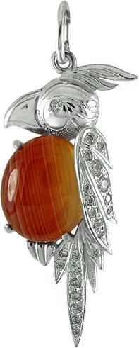 Кулоны, подвески, медальоны Серебро России 03-449-00-16019 ювелирные подвески серебро россии подвеска
