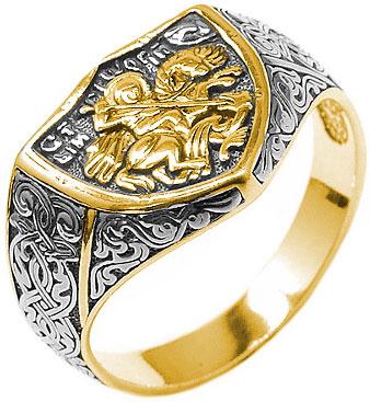Кольца Серебро России 1-173CHZ-54262