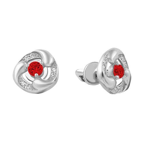 Серьги серебро россии 2-743r204-72664