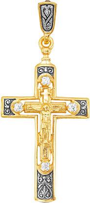 Крестики и иконки Серебро России 3-051CHZ-54075 крестики и иконки серебро россии 23 093r 31250