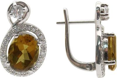 Серьги Серебро России E-1105R318-69109 серьги серебро россии 2 050r110 68653
