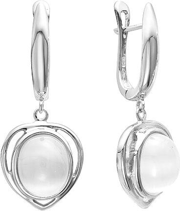 Серьги Серебро России IS-15432-39762 серьги серебро с кошачьим глазом и фианитами присцилла