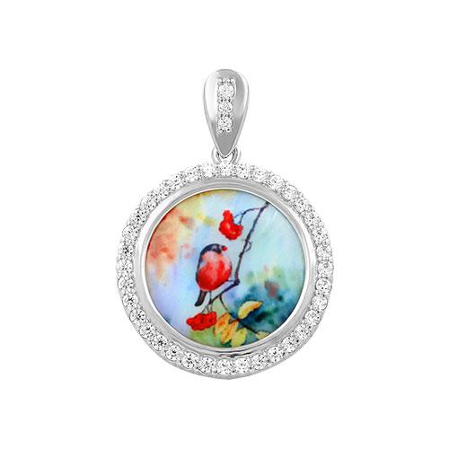 Кулоны, подвески, медальоны Серебро России P-11102R-74528