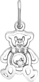 Кулоны, подвески, медальоны Серебро России P-2212R-47353 ювелирные подвески серебро россии подвеска
