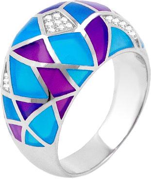 Кольца Серебро России PPABCR00004-2-74228 женские кольца svitozar женское серебряное кольцо с куб циркониями в позолоте 227к 19