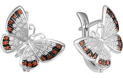 Серьги Серебро России S2-440-2R204-63931