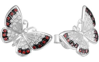 Серьги Серебро России S6-440-2R204-63942