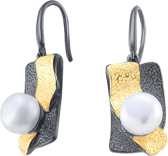 Серебряные серьги с подвесками Silver Wings 22EA1823GP-204 с жемчугом — купить в AllTime.ru — фото