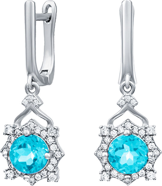 Серьги Silver Wings 22KNYS1356-155-swiss-blue