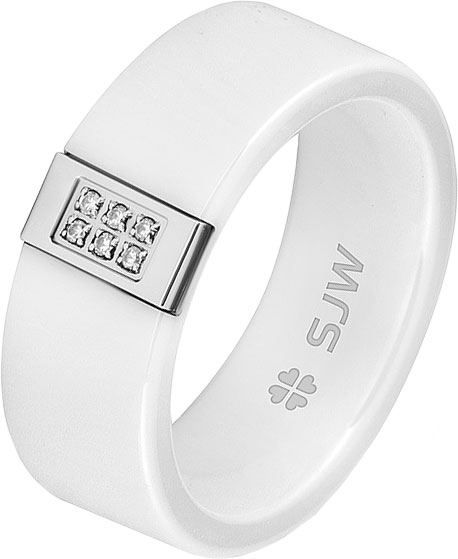 Кольца SJW RC013 sjw женский стальной браслет со вставками cb030