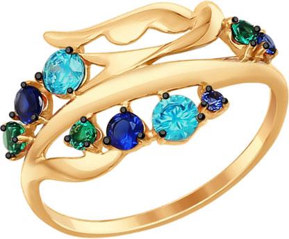 Кольца SOKOLOV 017285_s sokolov женское золотое кольцо с куб циркониями nd017142 16