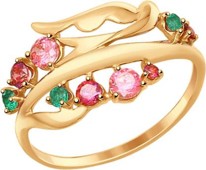 Кольца SOKOLOV 017319_s sokolov женское золотое кольцо с куб циркониями nd017142 16