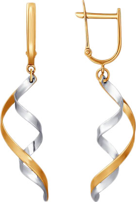 Серьги SOKOLOV 021185_s серьги selena street fashion цвет золотистый серебристый 20089160