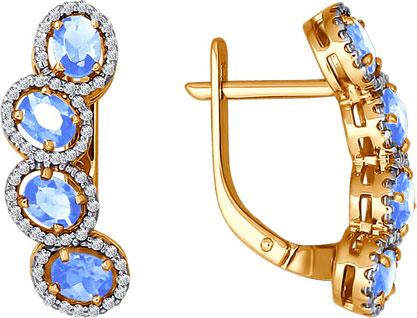 Серьги SOKOLOV 026447_s sokolov золотые серьги с куб циркониями nd027139