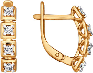 Серьги SOKOLOV 026493_s sokolov золотые серьги с куб циркониями nd027139