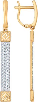 Серьги SOKOLOV 027083_s sokolov золотые серьги с куб циркониями nd027139