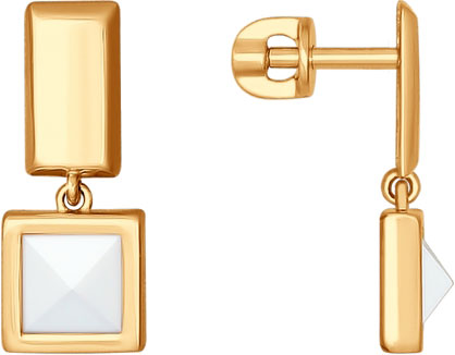 Серьги SOKOLOV 027127_s sokolov золотые серьги с куб циркониями nd027139
