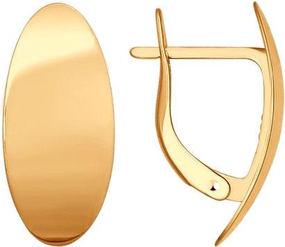 Серьги SOKOLOV 027196_s жен крупногабаритные стразы серьги кольца на каждый день крупногабаритные золотой серебряный круглый геометрической формы серьги