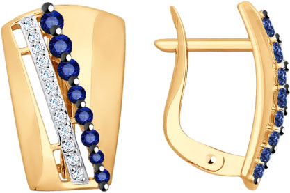 Серьги SOKOLOV 027710_s серьги из золота с бриллиантовой дорожкой