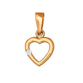 Кулоны, подвески, медальоны SOKOLOV 032688_s беда от нежного сердца