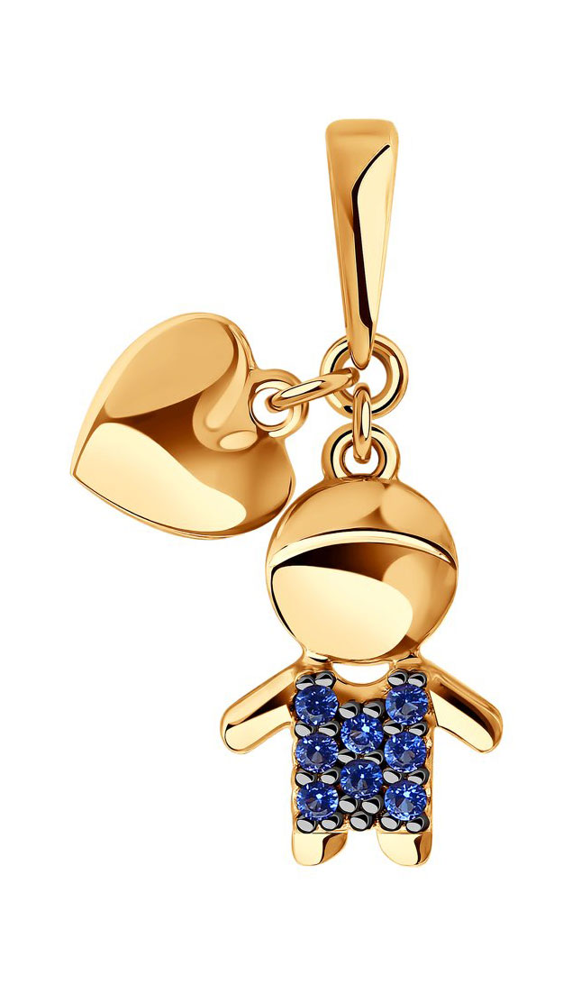 Золотой кулон SOKOLOV 034908_s c фианитом